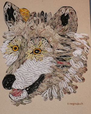 Quilling Wolf